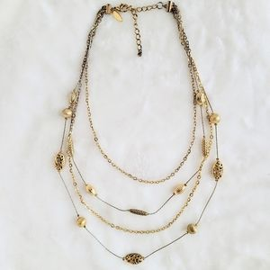 Gold 4 Layered Necklace